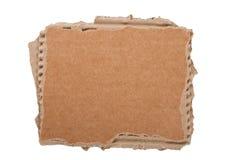 Cardboard piece. On white background stock photo