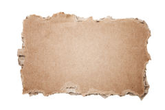 Cardboard piece. Piece of cardboard isolated on white Stock Image
