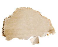 Cardboard piece isolated on white. This image represents the Cardboard piece isolated on white royalty free stock photo