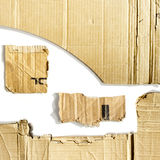Cardboard pieces. On the isolated white background Stock Image