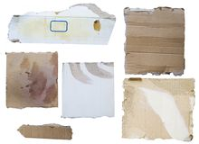 Cardboard pieces royalty free stock photo