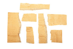 Cardboard pieces isolated. Stock Photography