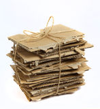 Cardboard pieces Royalty Free Stock Photography