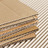 Cardboard pile background Royalty Free Stock Photos