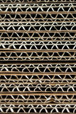 Cardboard pile on corrugated cardboard  texture as Industrial ba Royalty Free Stock Photo