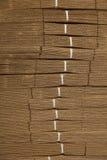 Cardboard pile on corrugated cardboard texture Stock Photo