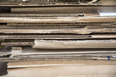 Cardboard piled up to recycle Royalty Free Stock Photography
