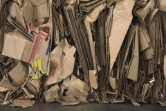 Cardboard piled up to recycle Royalty Free Stock Image