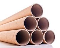 Cardboard pipe Stock Photography