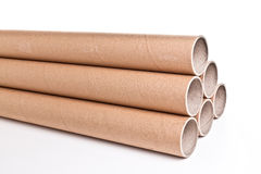 Cardboard pipe. Detail of classic cardboard pipe royalty free stock images