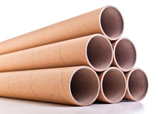 Cardboard pipe. Detail of classic cardboard pipe royalty free stock photography