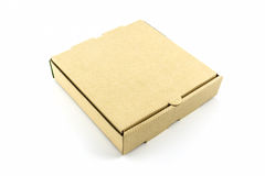 Cardboard pizza box. Royalty Free Stock Photography
