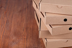 Cardboard  pizza boxes Stock Images