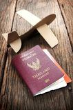 Cardboard plane Royalty Free Stock Photo