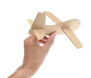 Cardboard plane Royalty Free Stock Images
