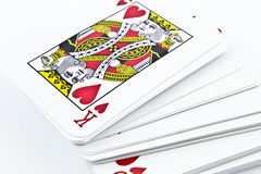 Cardboard playing cards for card games Royalty Free Stock Photos