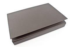 Cardboard portfolio folder. Isolated on white stock photos