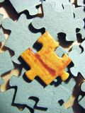 Cardboard Puzzle Pieces Stock Photo