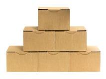 Cardboard pyramid front Stock Photo
