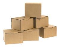 Cardboard pyramid with gaps Stock Photos