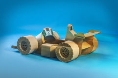 Cardboard racing car Royalty Free Stock Photos