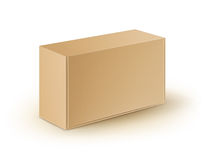 Cardboard Rectangle Take Away Box Packaging For Sandwich, Food Isolated Stock Photography