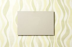 Cardboard rectangle on wallpaper 04 Royalty Free Stock Image