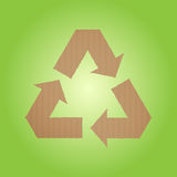 Cardboard recycle sign Royalty Free Stock Image