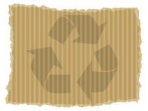 Cardboard recycle symbol Stock Image