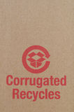 Cardboard recycle symbol Royalty Free Stock Photo