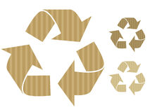 Cardboard recycle symbols Royalty Free Stock Image