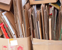 Cardboard Recycling Royalty Free Stock Photos