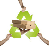 Cardboard recycling Stock Images