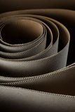 Cardboard roll. Vertical detail of cardboard paper waves from roll Royalty Free Stock Image