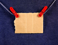 Cardboard on the Rope Royalty Free Stock Images