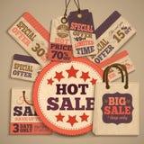 Cardboard sale design concept Royalty Free Stock Images