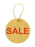 Cardboard sale tag Royalty Free Stock Photo