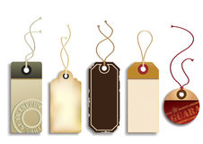 Cardboard Sales Tags Royalty Free Stock Photography