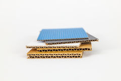 Cardboard samples in different thickness Royalty Free Stock Images
