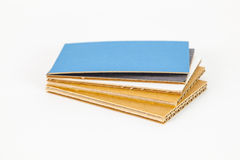 Cardboard samples in different thickness Stock Image