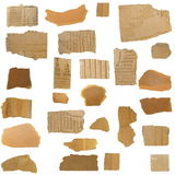 Cardboard Scraps isolated Stock Photo