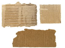 Cardboard Scraps isolated Stock Image