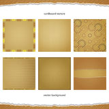 Cardboard set Stock Photography