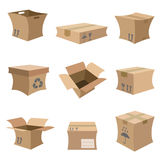 Cardboard set vector Royalty Free Stock Photo