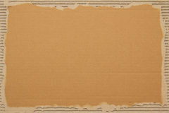 Cardboard sheet. Scrap cardboard sheet as a background for text stock image