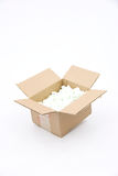Cardboard Shipping Box Royalty Free Stock Images