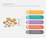 Cardboard shipping infographic business data template banner for information statistic - vector vector illustration