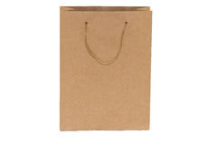 Cardboard shopping bag at the grocery store Stock Photo