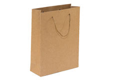 Cardboard shopping bag at the grocery store Stock Photography