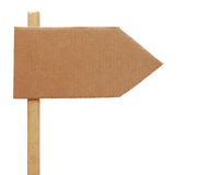 Cardboard sign Stock Images
